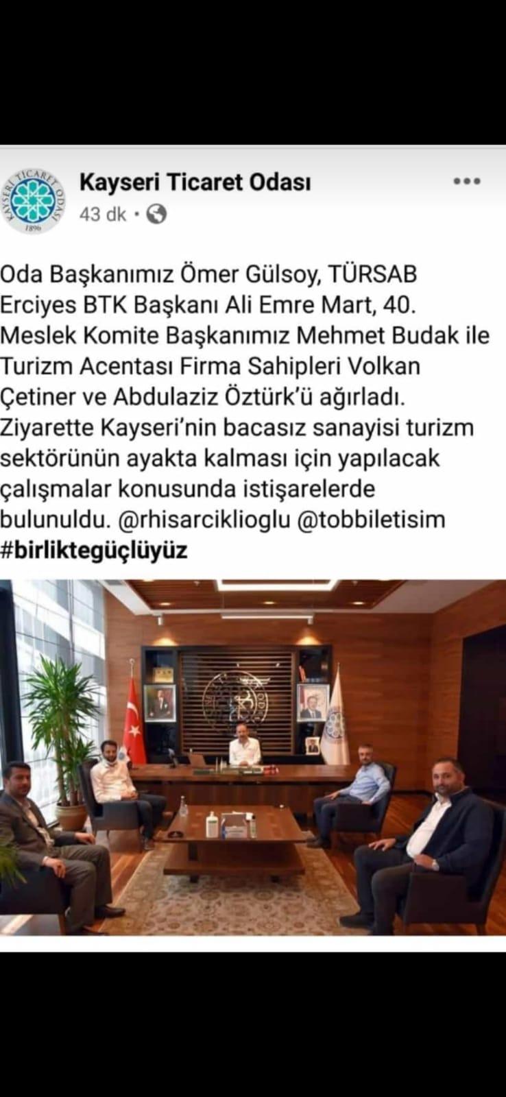 KAYSERİ TİCARET ODASI KAYSERİ TURİZMİ KONULU İSTİŞARE TOPLANTISI